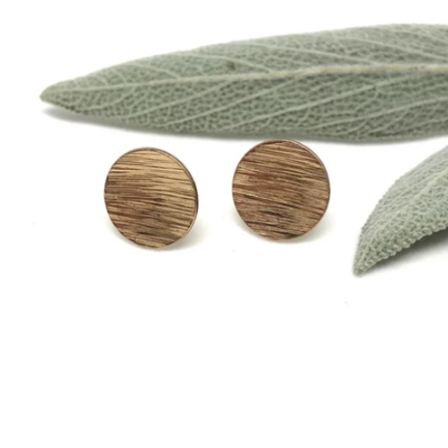 Naked Sage - Gold Full Moon Studs