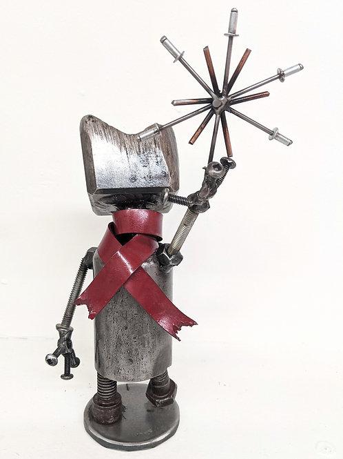 Wingnut Whimsy - Winter Bot Sculpture