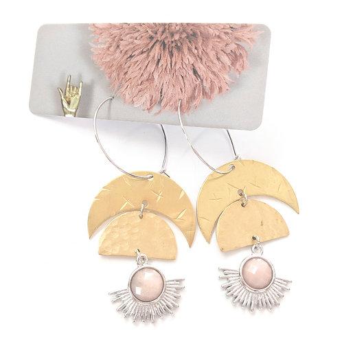 Cat D.esigns - Brass & Sunstone Earrings