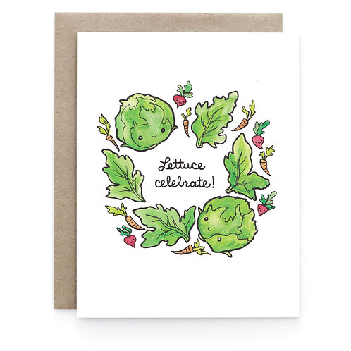 Art + Soul Creative Co. - Lettuce Celebrate Card