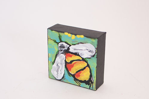 Rare Bird Art - Mini Bee Painting