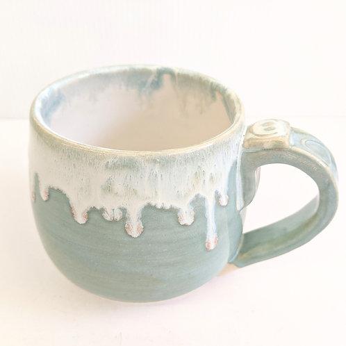 Radical Wondering - Blue Drippy Glaze Mug