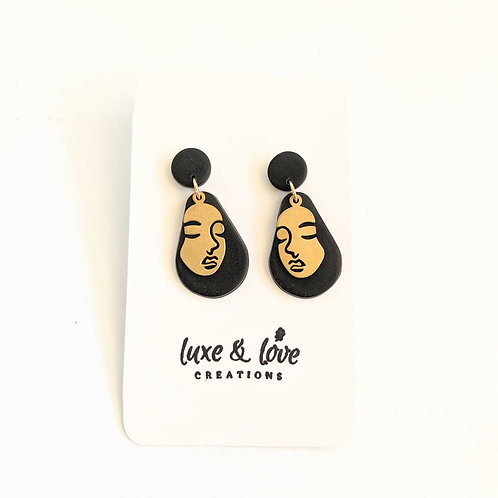 Luxe & Love Creations - Dangly Face Earrings