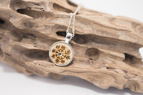 Tiny Timber Designs - Wooden Snowflake Pendant