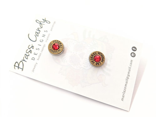 Brass Candy - Red Bullet Casing Studs