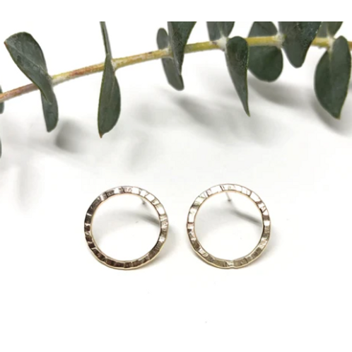 Naked Sage - Gold New Moon Studs