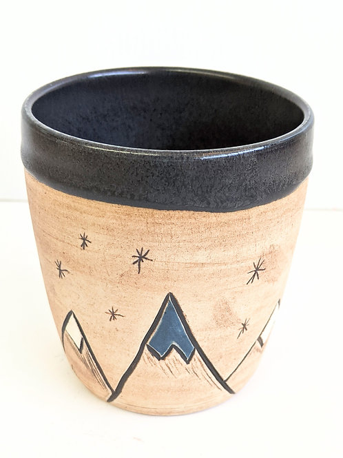 Restless Winds Pottery - Mountains Tumbler