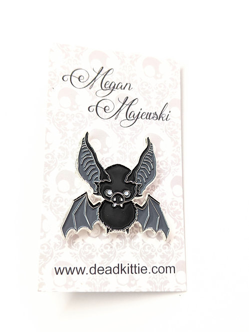 Megan Majewski - Black 'Radon' Bat Pin