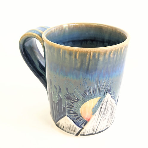 Lisa Martin Pottery - Short Blue Mountain Mug