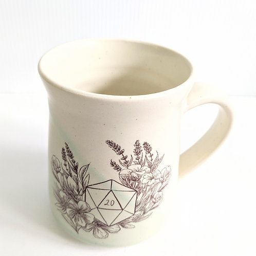 Tiny Cat Pottery - Mint D20 Mug