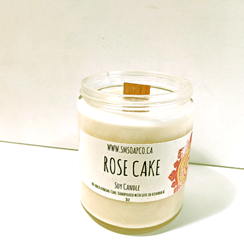 SM Soap Co. - Rose Cake Soy Candle