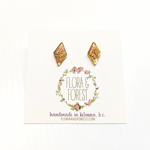 Flora and Forest - Yellow & Orange Floral Studs