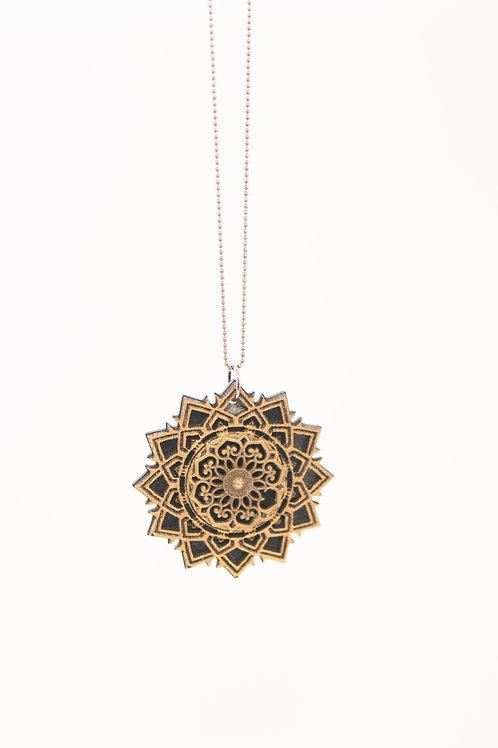 Phresha - Wooden Sacred Geo Pendant
