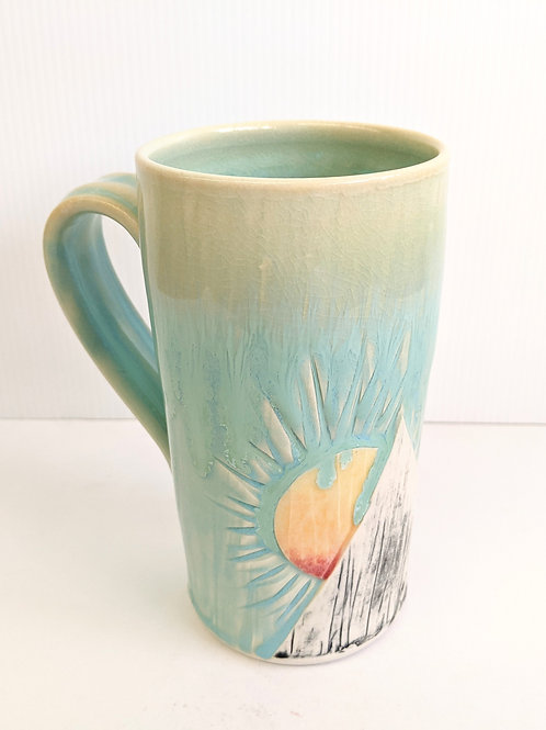 Lisa Martin Pottery - Tall Blue Mountain Mug