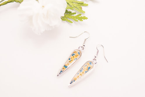 Flora and Forest - Floral Earrings (Blue & Yellow)