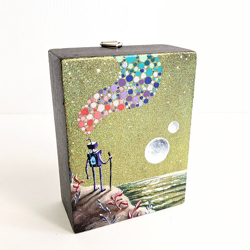 Jolene Mackie - Mini 'Thought Bot' Painting