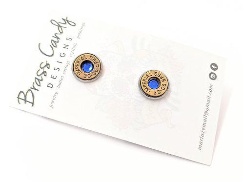 Brass Candy - Blue Bullet Casing Studs