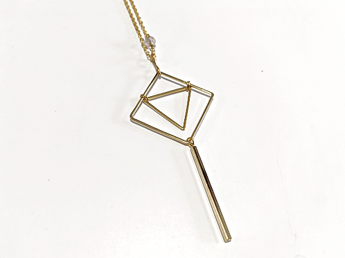 Cat D.esigns - Gold Geo Necklace