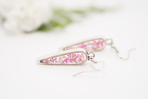 Flora and Forest - Floral Earrings (Pink & White)