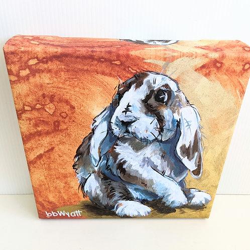 Brandy Wyatt - 'Wabbitt' Bunny Canvas Print