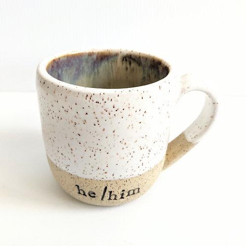 Radical Wondering - Large He/Him Pronouns Mug