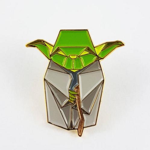 FoldiT Creations - Enamel Origami Yoda Pin