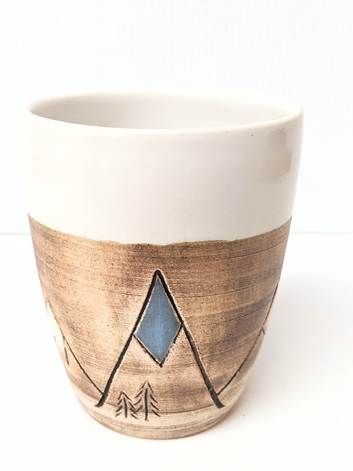 Restless Winds Pottery - White Mountains Tumbler