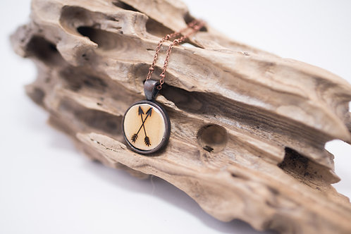 Tiny Timber Designs - Wooden Arrow Pendant
