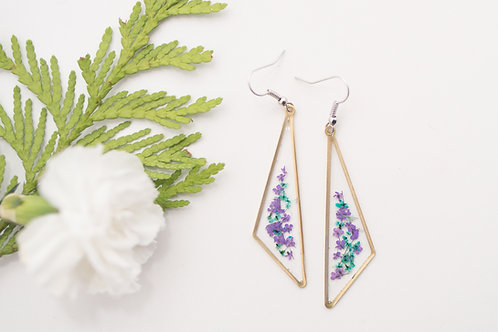 Flora and Forest - Floral Earrings (Purple & Blue)