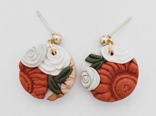 Ember Autumn Co. - Clay Boho Floral Earrings