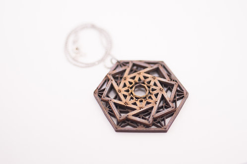 Phresha - Wooden Geo Necklace
