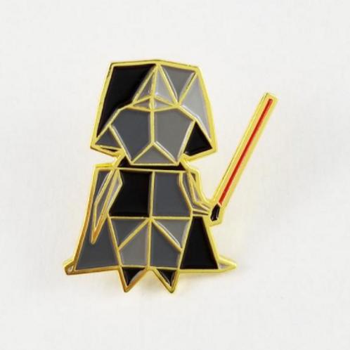 FoldiT Creations - Enamel Origami Darth Pin
