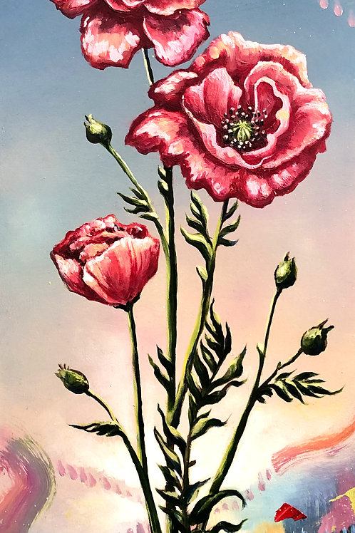 Jolene Mackie - 'Flourishing' painting