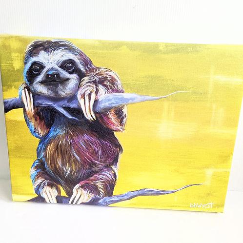 Brandy Wyatt - 'Eugene' the Sloth Limited Edition Canvas Print