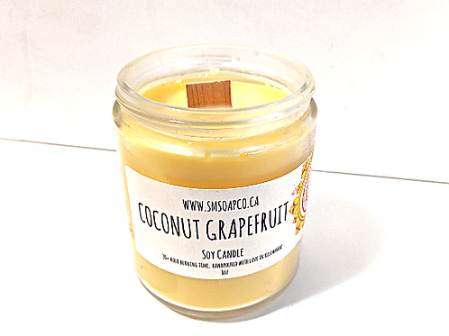SM Soap Co. - Coconut Grapefruit Soy Candle
