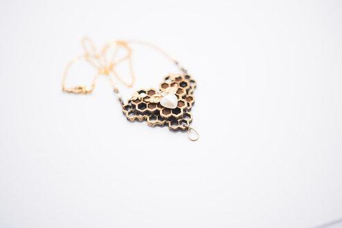 Phresha - Wooden Honeycomb Pendant