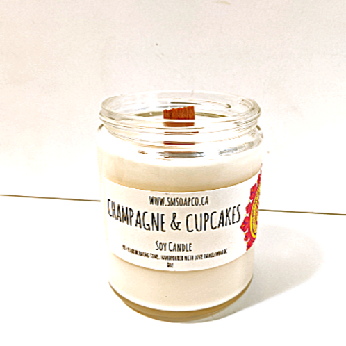 SM Soap Co. - Champagne & Cupcakes Soy Candle