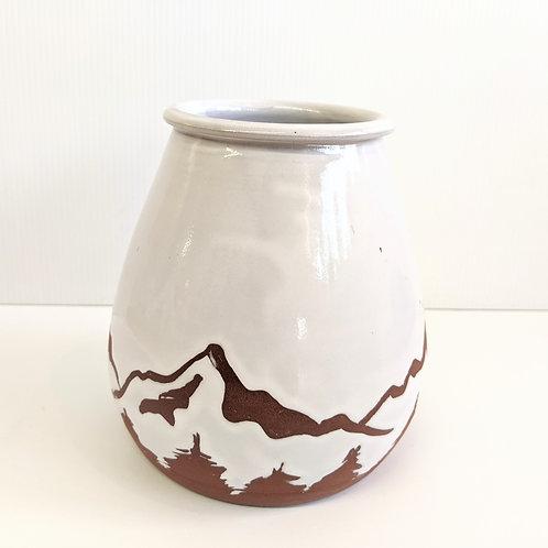 Prairie Willow Pottery - White Mountains Vase