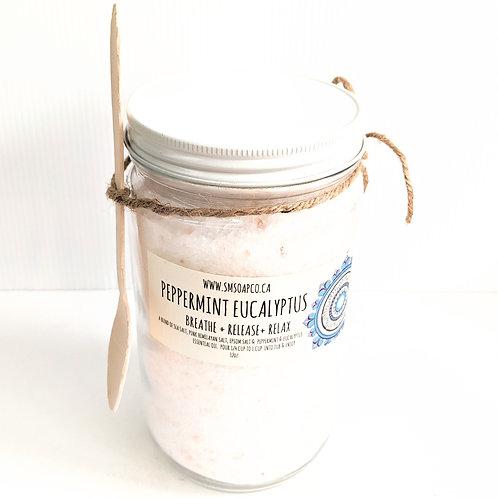 SM Soap Co. - Peppermint Eucalyptus Bath Salts