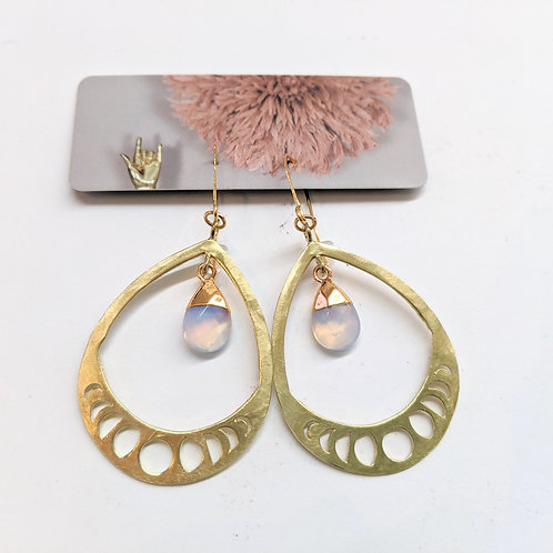 Cat D.esigns - Opal Moon Phase Earrings