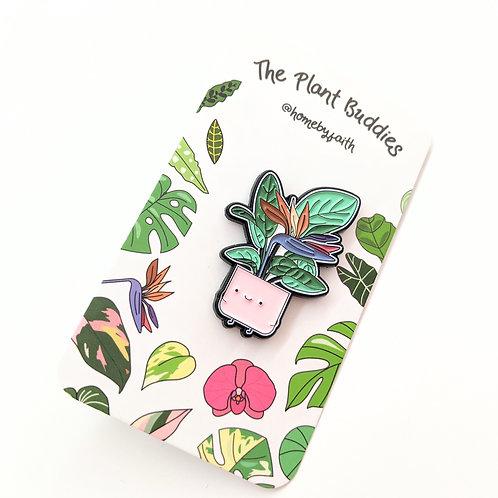 Home By Faith - Enamel Bird of Paradise Plant Buddy Pin