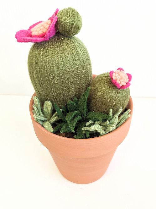 Oh Susannah Makes - Pink Cactus Sculpture