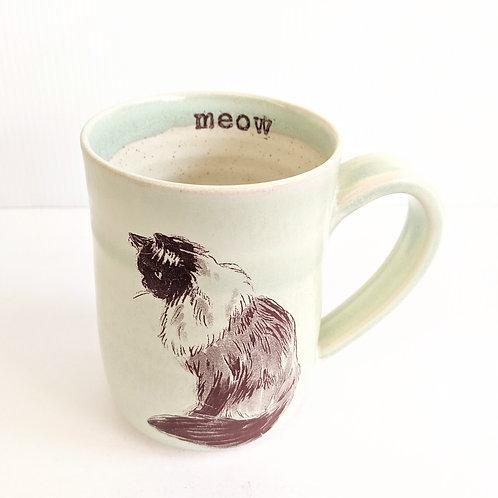 Tiny Cat Pottery - Mint Le Chat Mug