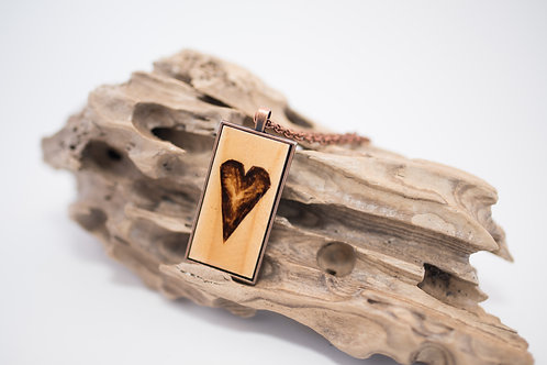 Tiny Timber Designs - Large Wooden Heart Pendant