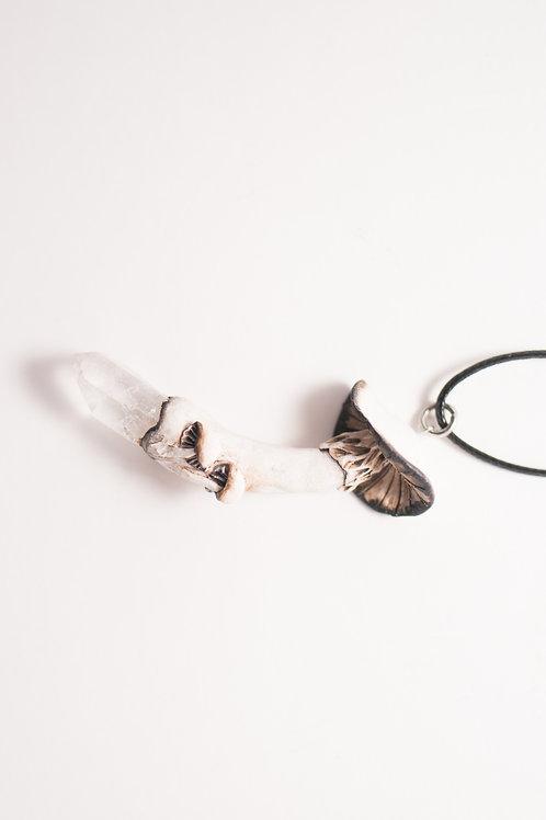 Jewel and the Dahlia - Mushroom Quartz Necklace
