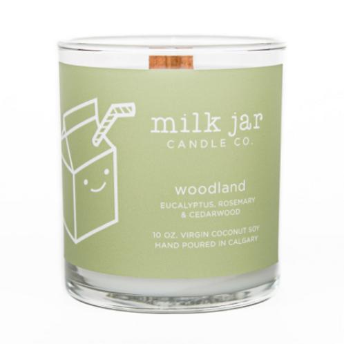 Milk Jar Candle Co. - Woodland Essential Oils Candle
