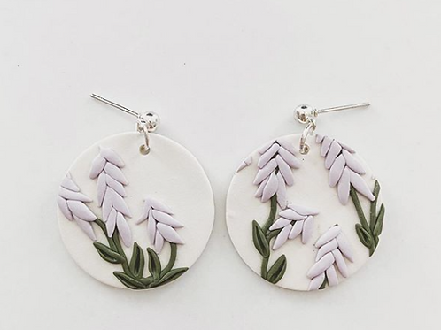 Ember Autumn Co. - Clay Lavender Earrings