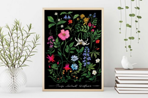 Sarah Clement - Pacific Northwest Wildflowers Print