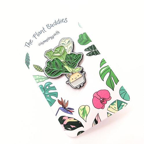 Home By Faith - Enamel Fiddle Leaf Fig Plant Buddy Pin