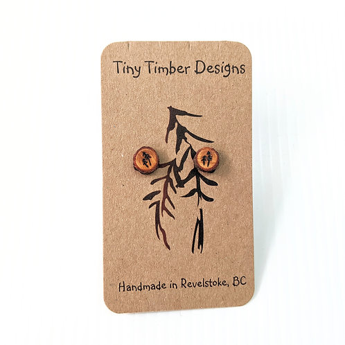 Tiny Timber Designs - Wooden Trees Earrings